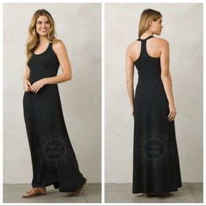 NEW prAna Cali Maxi Dress Black Women's Size XS